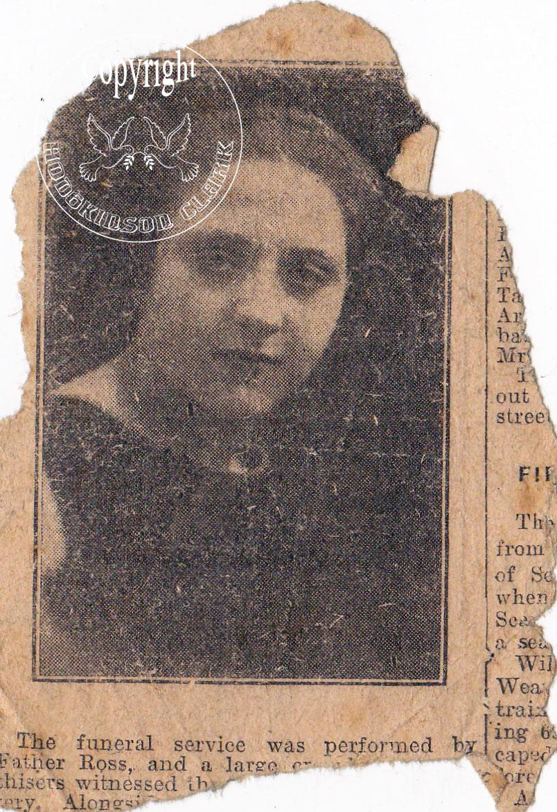 Obituary of Unknown Lady