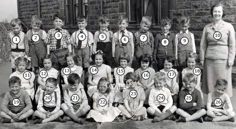 St Johns Stonefold School Photo 1957